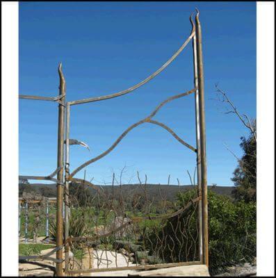 Wrought Iron Gate - Tau Gate