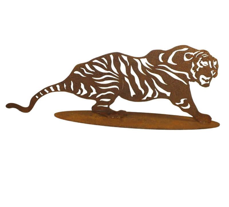 Tiger Stand Garden Art
