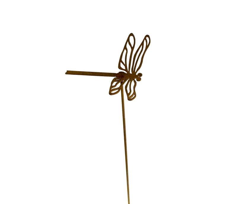 Tiny Dragonfly Stake Garden Art