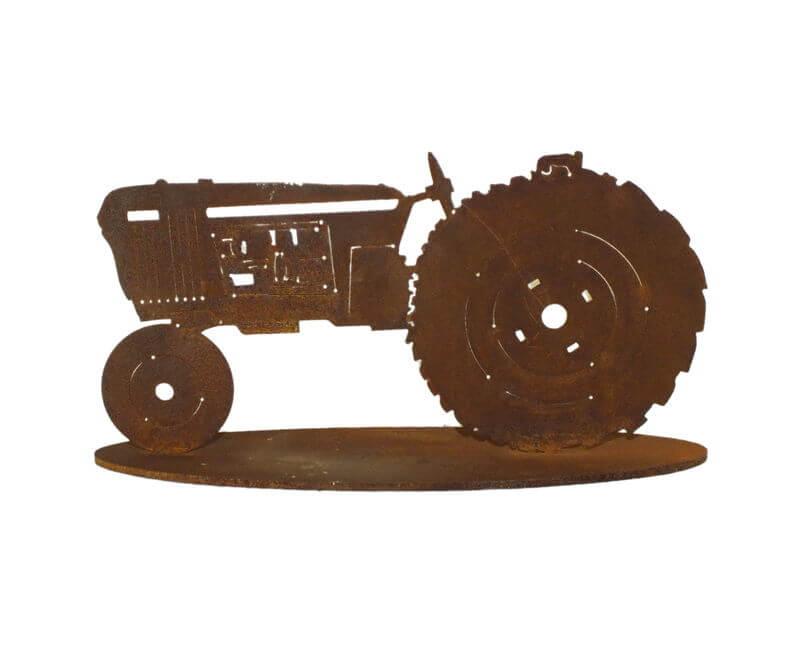 Tractor Stand Garden Art
