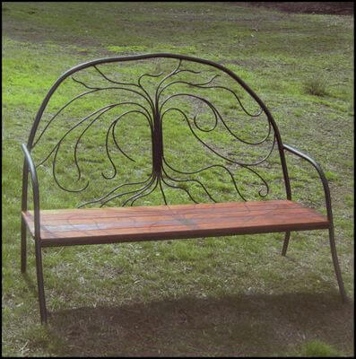 wrought Iron garden seat by overwrought - Tree Seat