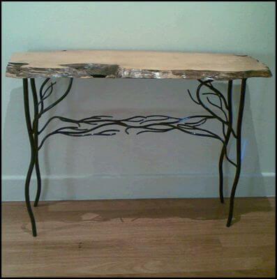 Handmade Australian wrought iron furniture - Tree Side Table