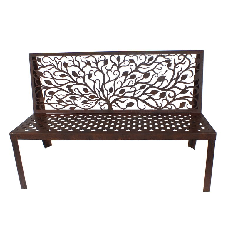 Tree and Leaves Bench Seat Garden Art