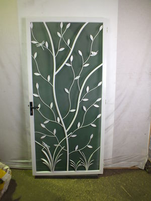Tree and reed door