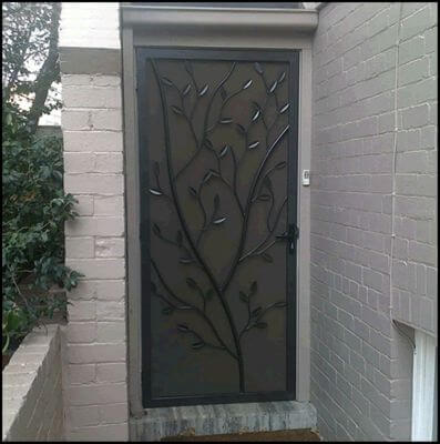 Security Screen Door by Overwrought - Tree door 2