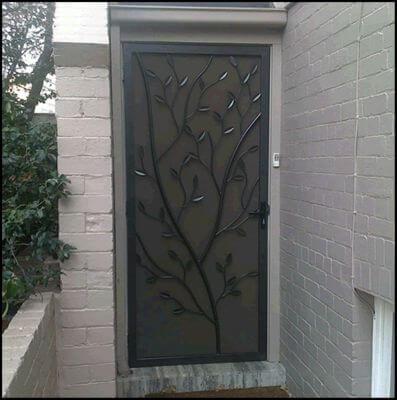 Security Screen Door by Overwrought - Tree door 2