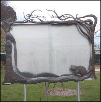 Custom Made Wrought Iron signs - Trentham Community Noticeboard