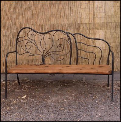Individually made outdoor Steel furniture By Overwrought -Trentham seat