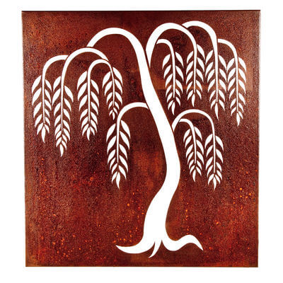 Metal Wall art by Overwrought - Weeping Willow Box Wall Art