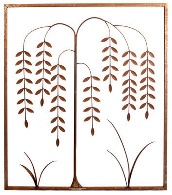 Metal Wall art by Overwrought - Willow Tree Panel Wall Art