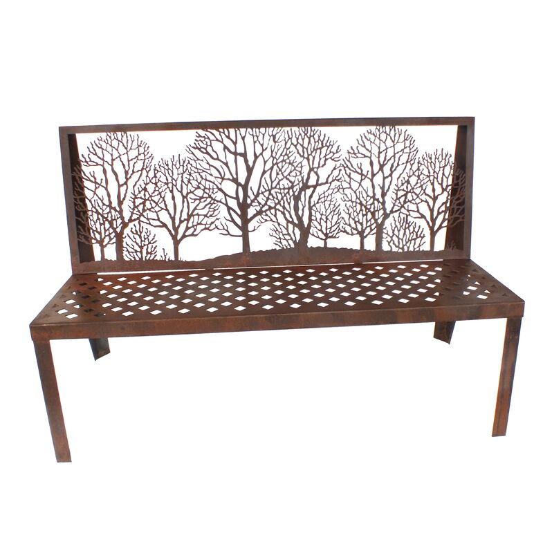 Winter Trees Bench Seat Garden Art