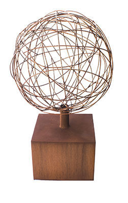 Wire Ball on Plinth