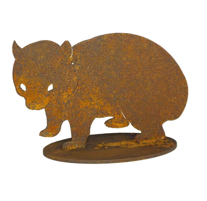 Wombat Metal Garden Art