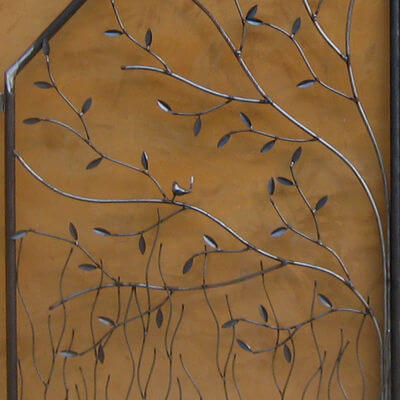 Wrought Iron Gate by Overwrought - Wrens Gate Close up