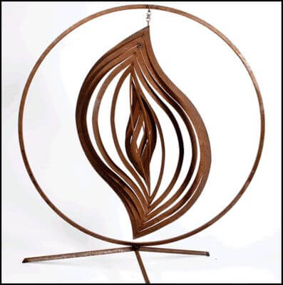 Unique Steel Garden Sculpture by Overwrought -  Abstract 9