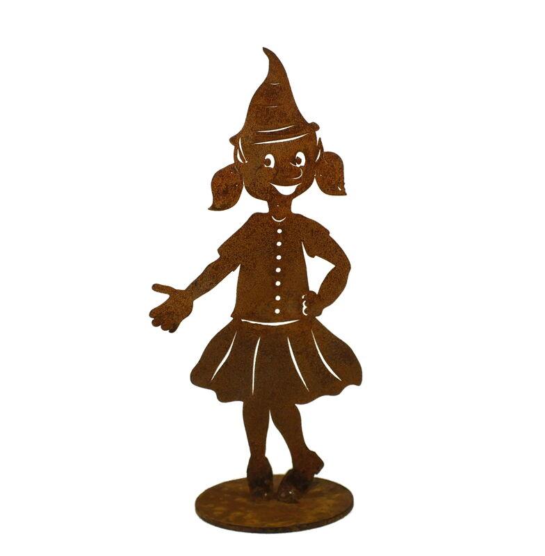Christmas Elf Girl Stand Small Garden Art