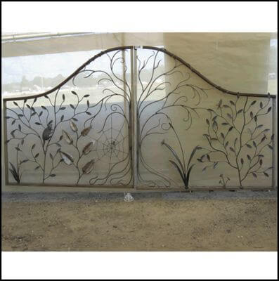 Wrought Iron Gate by Overwrought -  Forest Gate