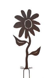 Flower Garden Stake One Garden Art