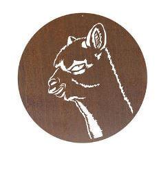 Alpaca Circle Garden Wall Art Panel