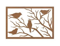 Sparrow Metal Garden Wall Art Panel One