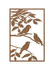 Sparrow Metal Garden Wall Art Panel Two