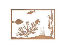 Fish Metal Garden Panel Wall Art