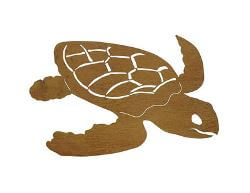 Turtle Metal Garden Wall Art