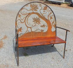 Lotus Outdoor Garden Bench Seat