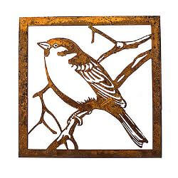 Little Sparrow Metal Garden Wall Art
