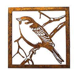 Little Sparrow Metal Garden Wall Art