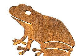 Frog Wedge Stake - One Garden Art