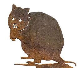 Bettong Wedge Stake Metal Garden Art