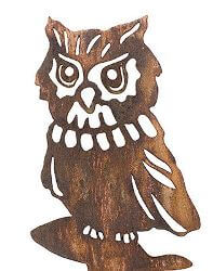 Owl Wedge Stake Garden Art