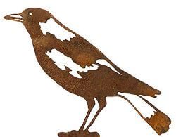 Magpie Wedge Stake Garden Art