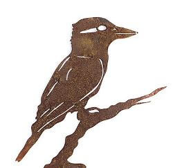 Kookaburra Wedge Stake Garden Art