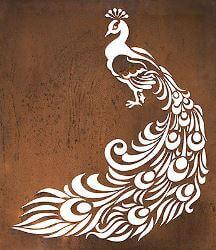 Peacock Metal Garden Wall Art Panel