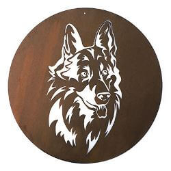 Dog Metal Garden Wall Art
