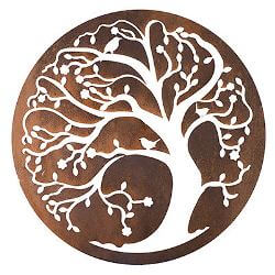 Spring Tree Negative Metal Garden Wall Art