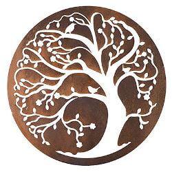 Spring Tree Negative Metal Garden Wall Art