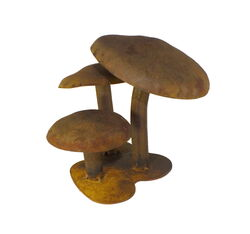 3 Mushrooms Garden Art
