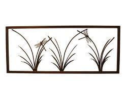 Three Reed Panel Garden Small Wall Art
