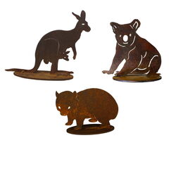 Aussie Icons Set Small Garden Art