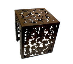 Autumn Leaves Metal Garden Stool