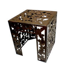 Autumn Garden Metal Stool