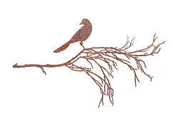 Bird On Branch Three Garden Wall Art
