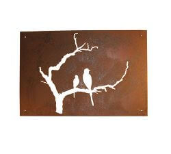 Birds on Branch Garden Wall Art Panel