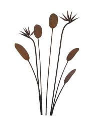 Unique Steel Garden art by Overwrought -Bird of Paradise Garden Stake Set