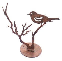 Bird on Branch Garden Art