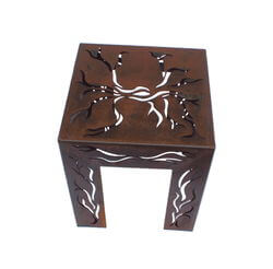 Branch Metal Garden Stool