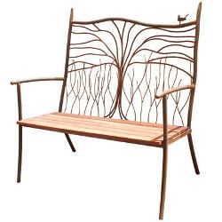 Bird and Tree Outdoor Garden Bench Seat